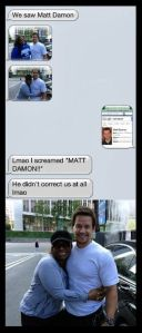 Gorgeous and considerate? Mr. Wahlberg, YOU DA MAN!